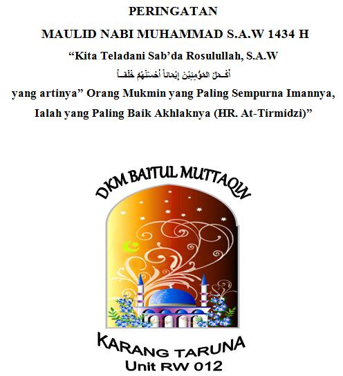 Proposal Maulid Nabi Muhammad S.A.W