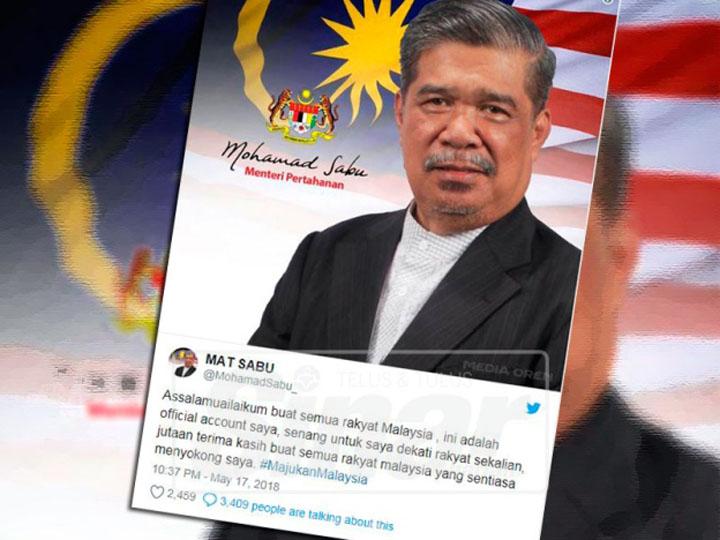 Akaun twitter rasmi Mat Sabu Menteri Pertanian Malaysia