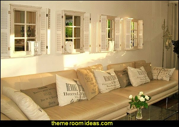 Wall Mirror In White With Shutters Mirror Wood Country House Style