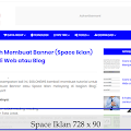 Cara Mudah Membuat Banner (Space Iklan) Melayang di Web atau Blog