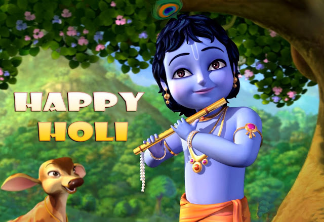 Happy Holi Radha Krishna Wallpaper 2017