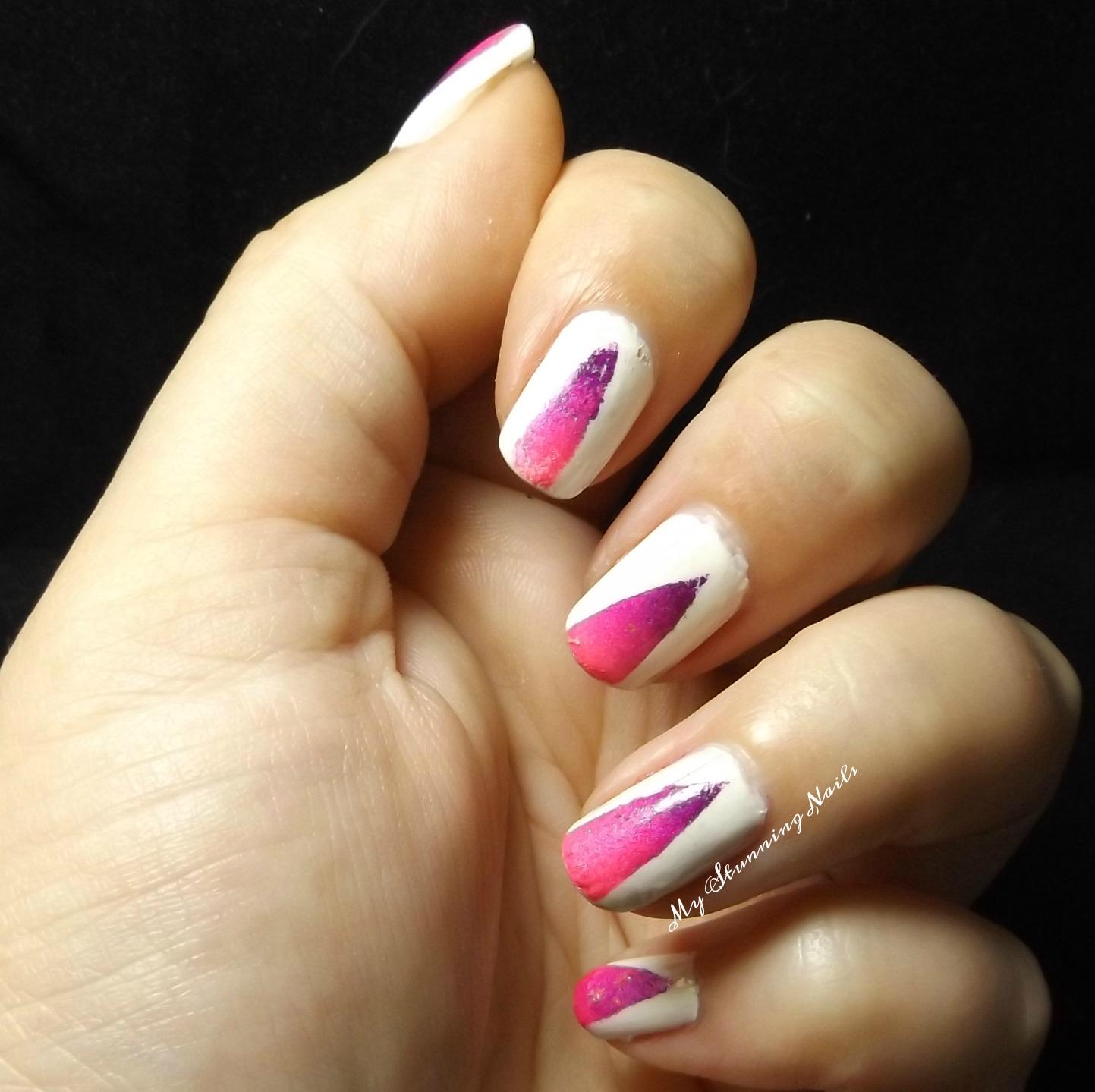 Nail Art - V-Shaped Gradient - My Stunning Nails