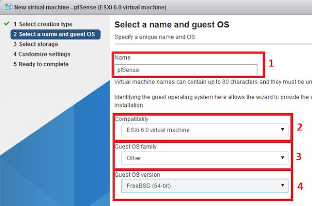 VMWare ESXi: Instalar pfSense