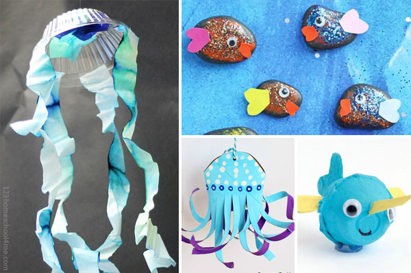 beach and sea june crafts for kids