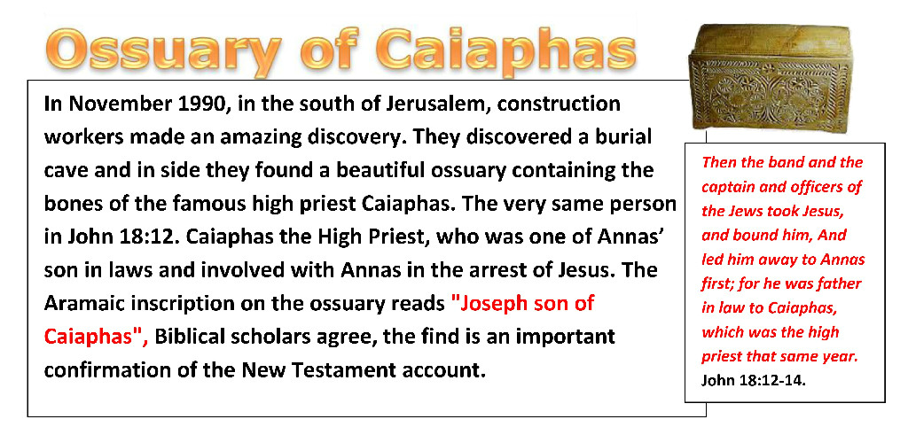 Ossuary of Caiaphas. By Simon Brown.