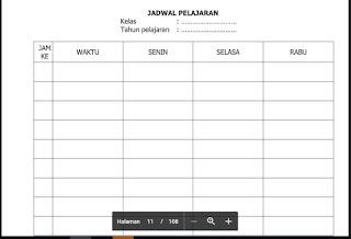 Format Jadwal Pelajaran, http://www.librarypendidikan.com/