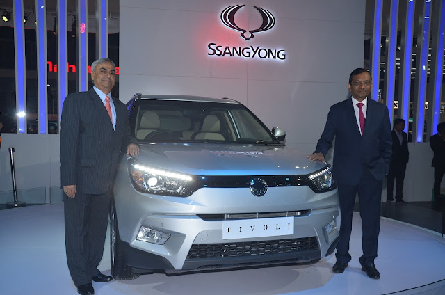 Mahindra Ssanyong Tivoli at Auto Expo India 2016
