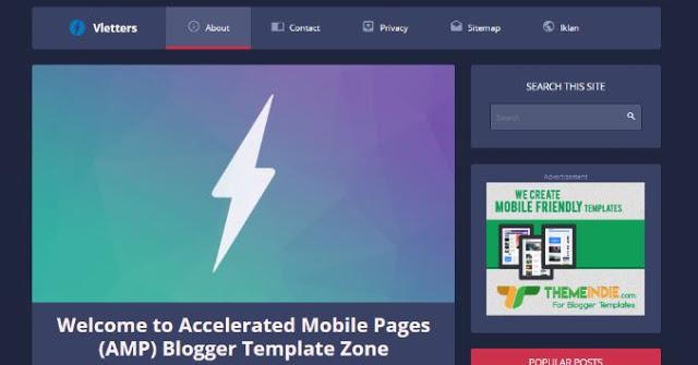 Rekomendasi template amp blogger paling terbaik dan gratis (banyak digunakan) full responsive