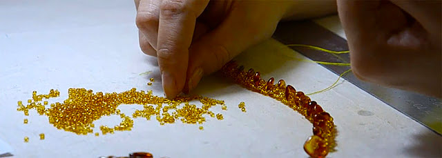 amber jewelry manufacturing in Kaliningrad Russia