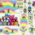 Pocoyo with Rainbow: Free Printable Images, Backgrounds and Party Printables.