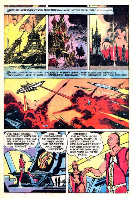 Weird War Tales v1 #16 dc bronze age comic book page art by Alex Nino