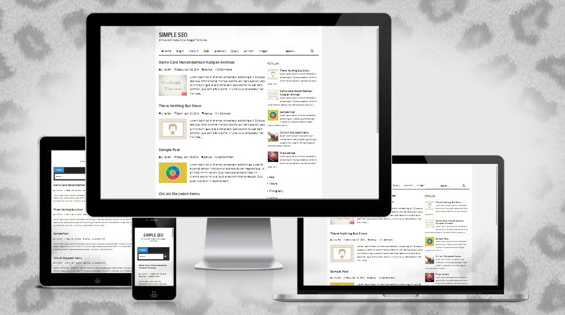 Simple Seo ~ Responsive Blogger Template - TemVlates ~ The Best Free ...