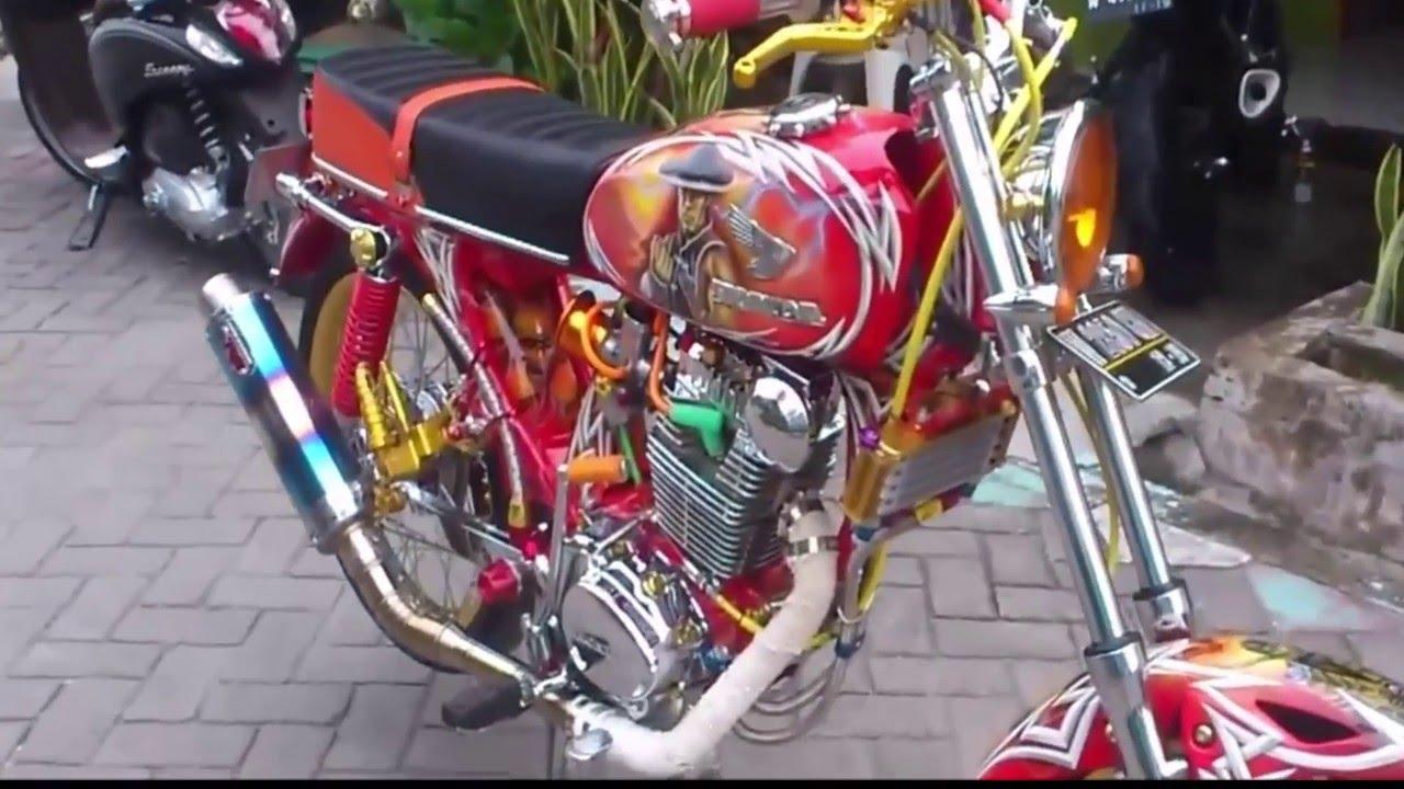 Kumpulan 91 Modifikasi Motor Cb Indonesia Terkeren Fire Modif