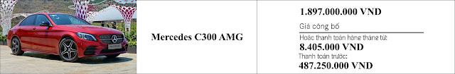Giá xe Mercedes C300 AMG 2019 tại đại lý Mercedes