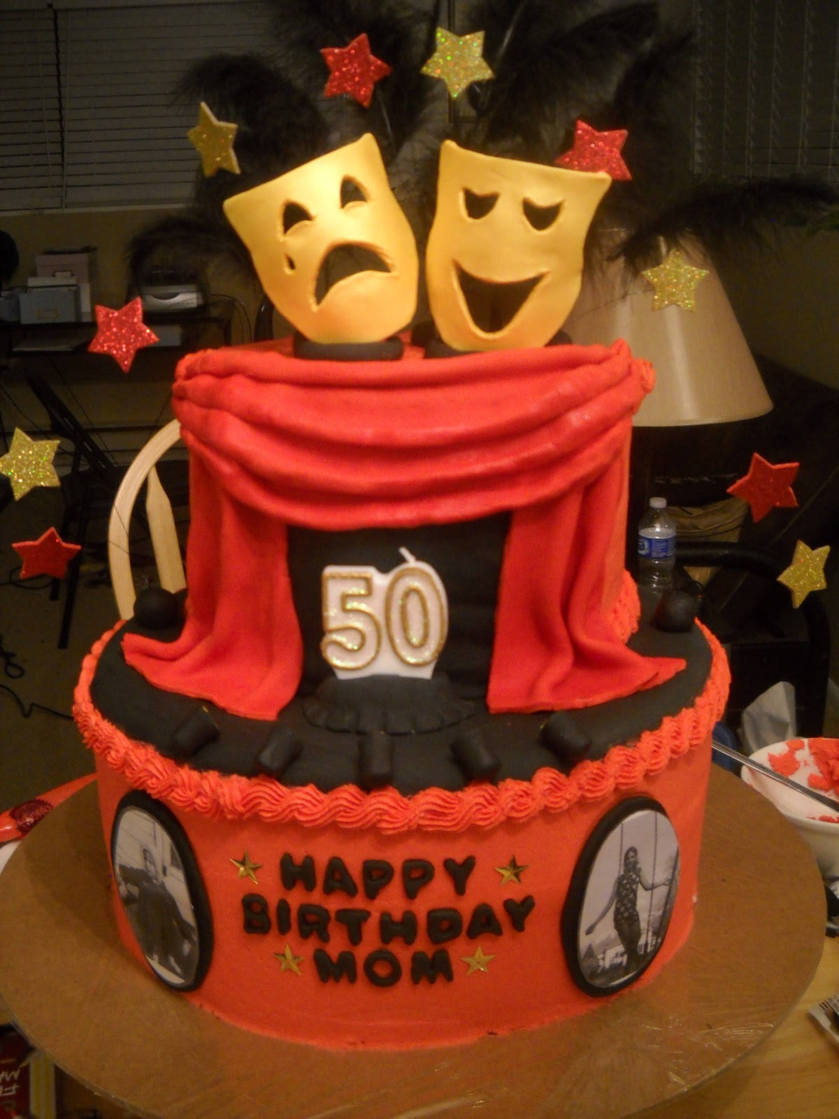 My Friend Tia Wanted To Surprise Her Mother With A Special 50th Birthday Cake Drew Up The Design And Helped Me Make This