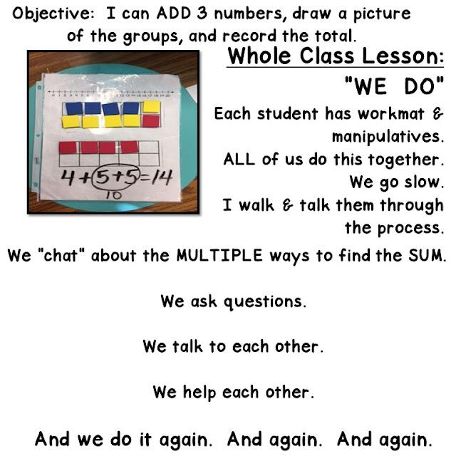 whole class math lesson.