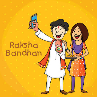 Happy Rakhi Selfie Wishes For Sister: CUTEST Cartoon Ever