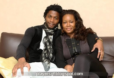 Alex Song and his Wife Olivia