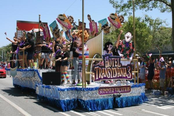 Hotel Transylvania 3 LA Pride float 2018