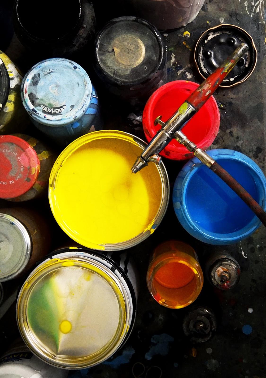 Paint, Paint Pots, Fluro Paint, Bright Colours
