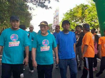 Abdul Ghani Kasuba Hadiri Pemilu Run 2019 di Taman Nukila Ternate