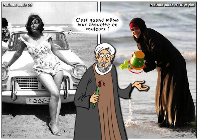 Le dessin du jour (humour en images) - Page 16 Plage-iran