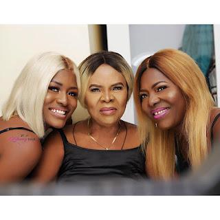 #BBNaija's Alex shares three generations photo with her mum and Grandma..