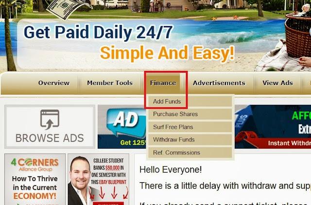 Hướng dẫn nạp tiền vào tài khoản Clickadpays