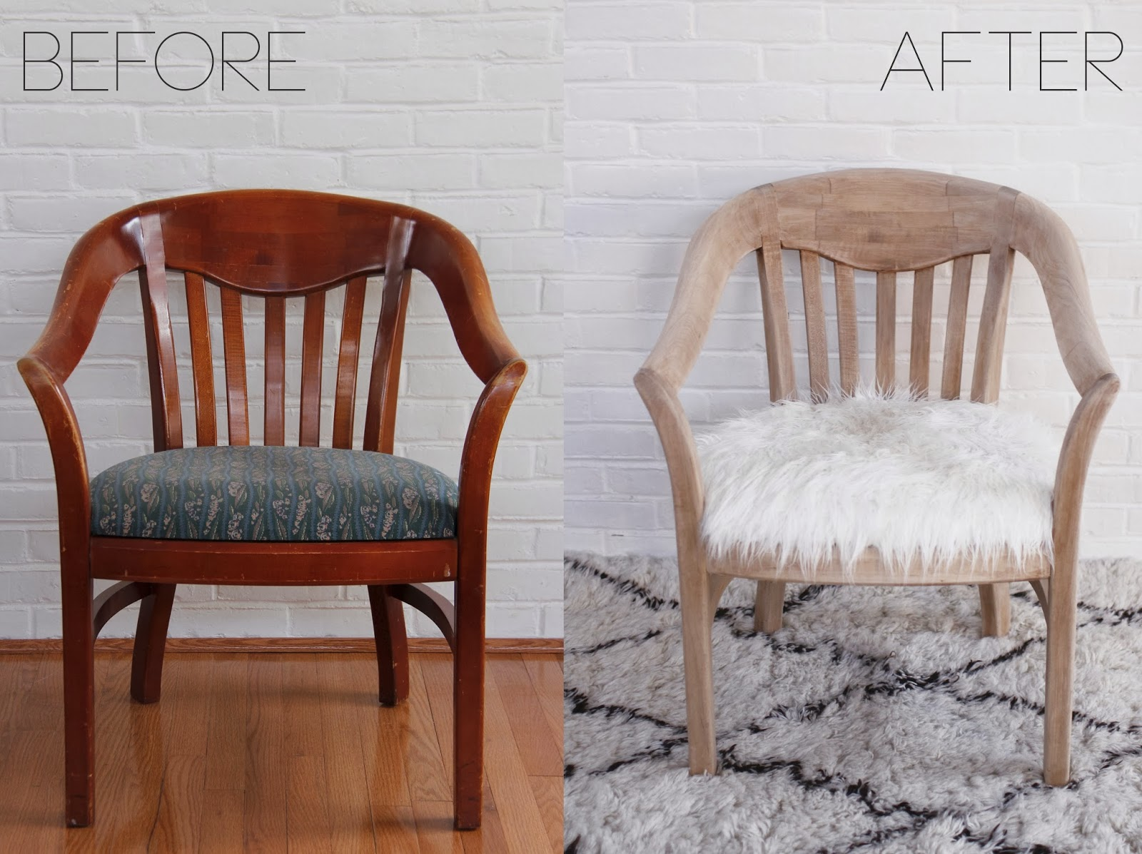 So Fancy: Before + After: Faux Fur Chair Makeover