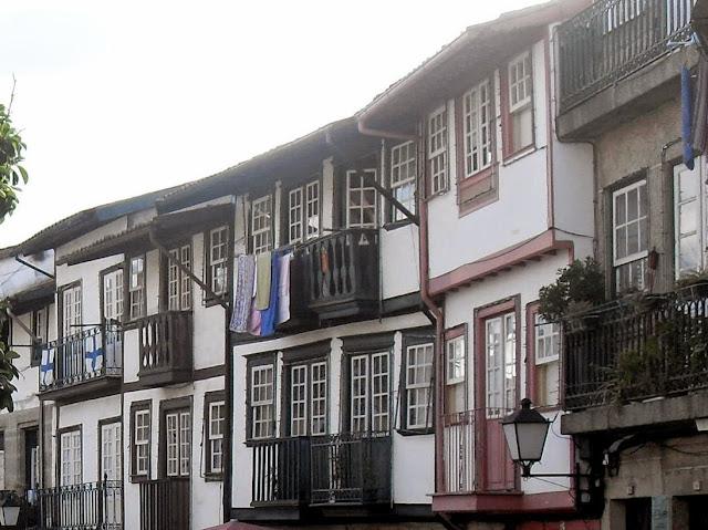 casas del casco antiguo de Guimaraes