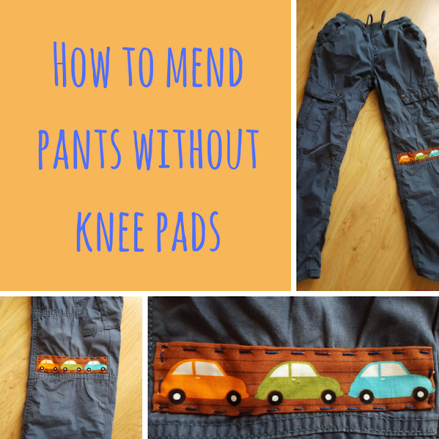 How to mend pants without knee pads