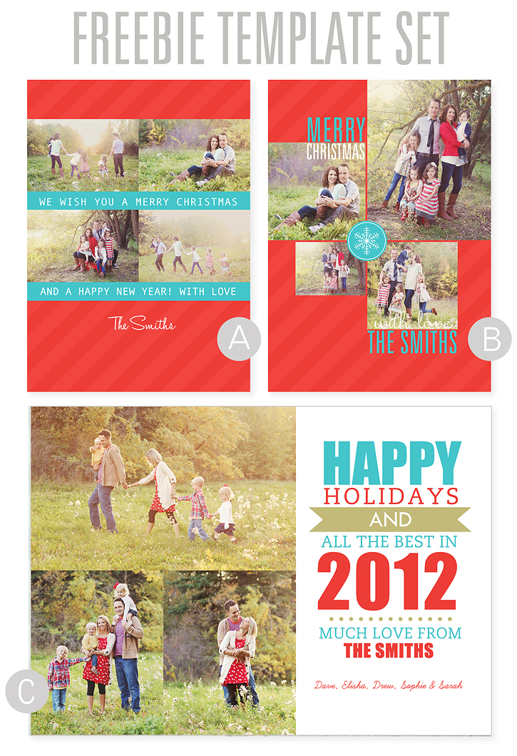 Free Holiday Card Templates - Free holiday card templates