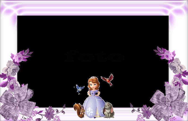 Bordas E Molduras Princesa Sofia Convites Digitais Simples