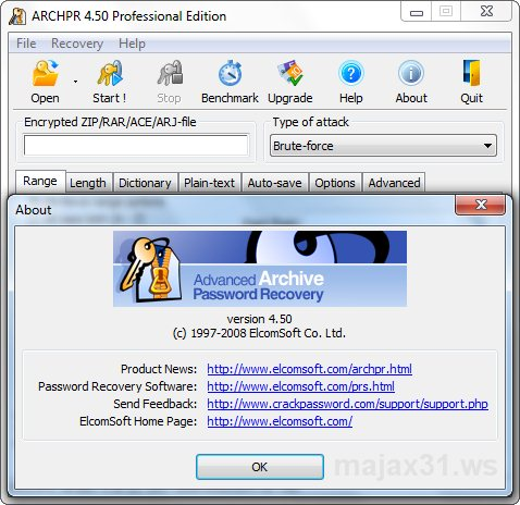 advanced archive password recovery 4.50