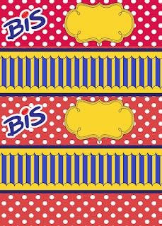 Etiquetas de Azul, Rojo y Amarillo para imprimir gratis.