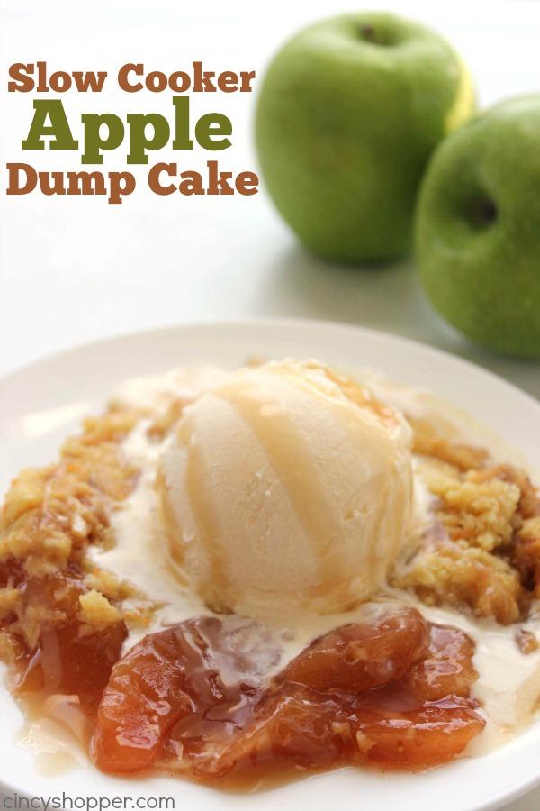 Slow Cooker Caramel Apple Dump Cake