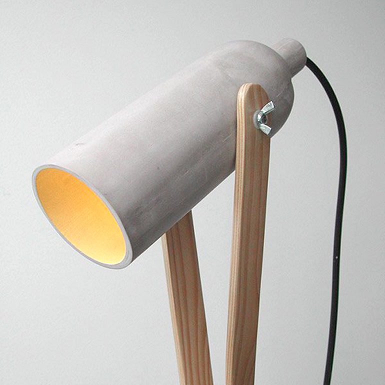 lampara de cemento