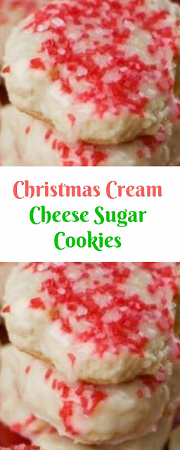 Christmas Cream Cheese Sugar Cookies Christmas Cookies
