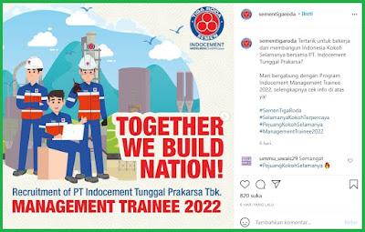 Lowongan Kerja Semen Tiga Roda. Lowongan Kerja Bagian Management Trainee 2022, Technical & User Support Officer, dan Pricing Admin Executive
