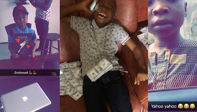 9YEAR OLD BOY NAMED SEGUN WIRE WHO SAID THAT WHEN HE GROWS UP HE WANTS TO BECOME AN INTERNET FRAUDSTER GETS ENDORSEMENT DEAL (MUST SEE)