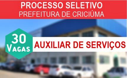 Apostila concurso Prefeitura de Criciúma 2017 - Auxiliar de Serviços