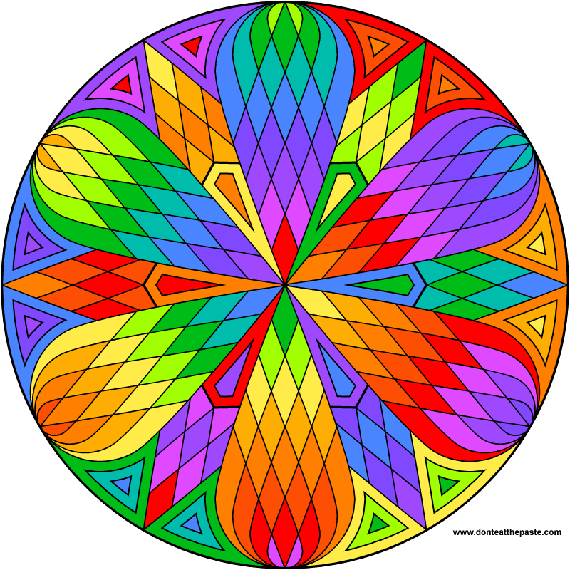 Lattice mandala to color