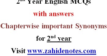 English Mcq