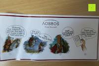 Zettel: Aosbos Wasserdichte Lunch Tasche Isolierte Thermo Picknicktasche für Lebensmitteltransport(Grün Blumen)
