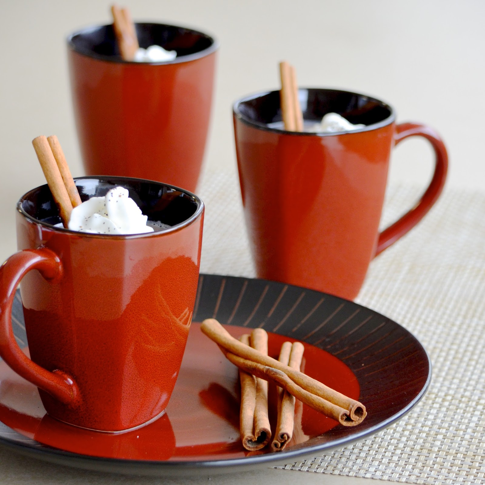 Mexican Hot Chocolate cinnamon whipped cream cocoa