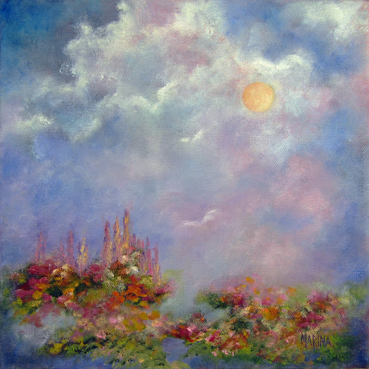 GLIMPSE OF HEAVEN~Original oil painting by Marina Petro