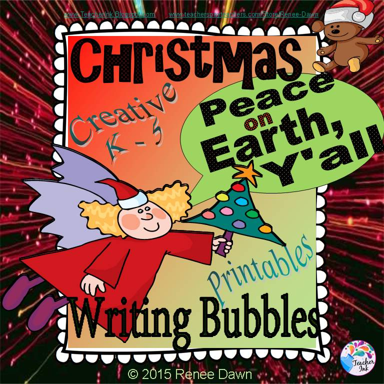 Christmas Writing Bubbles
