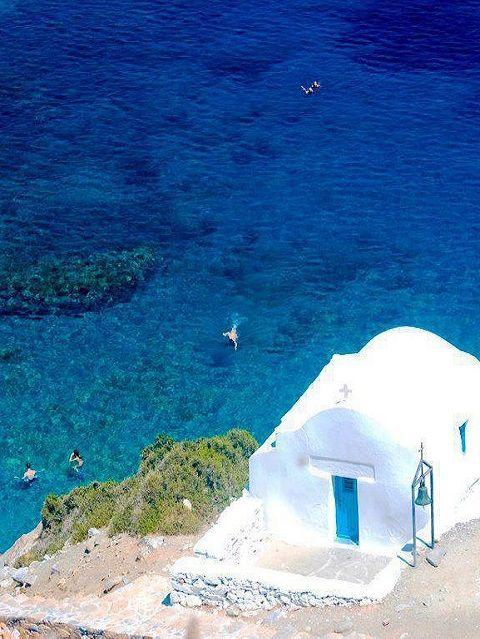 Agia Anna  Amorgos Island (Cyclades)  Greece