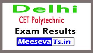 Delhi CET Polytechnic Exam Results 2017
