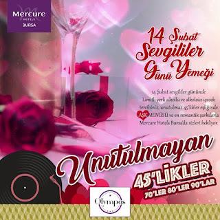 bursa sevgililer günü programları 14 şubat mekanları etkinlikleri